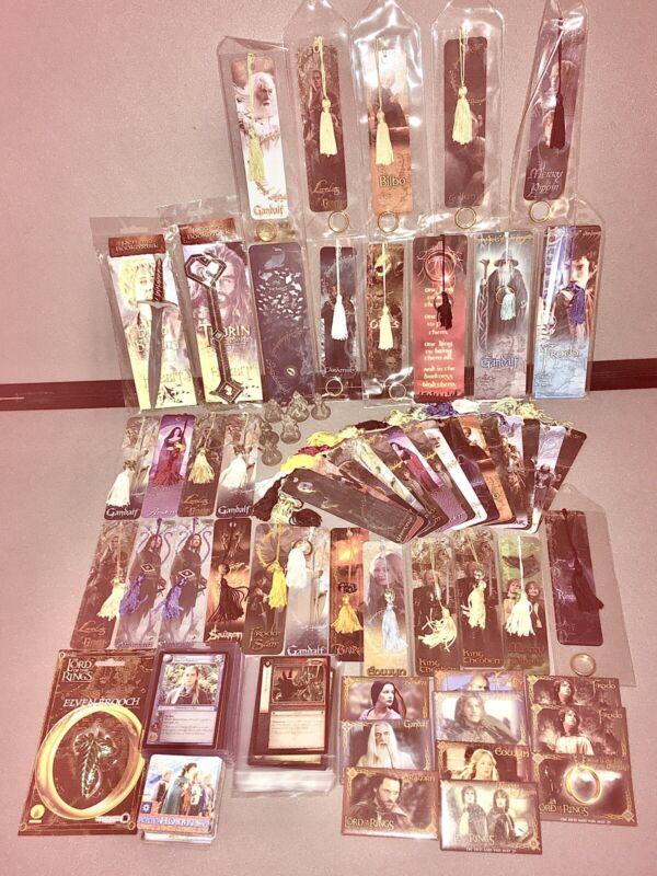 Lot: LOTR/Hobbit Movie Tie-Ins/Memorabilia (Bookmarks, Pins, Pens, Etc)