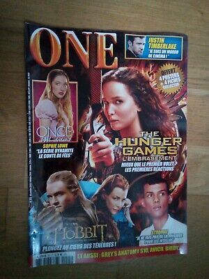 ONE n°85 décembre 2013 Hunger Games Hobbit Stromaé Once Upon a Time  for sale  Shipping to Nigeria