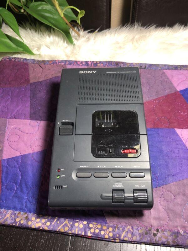 Sony M-2000 Microcassette Transcriber Working