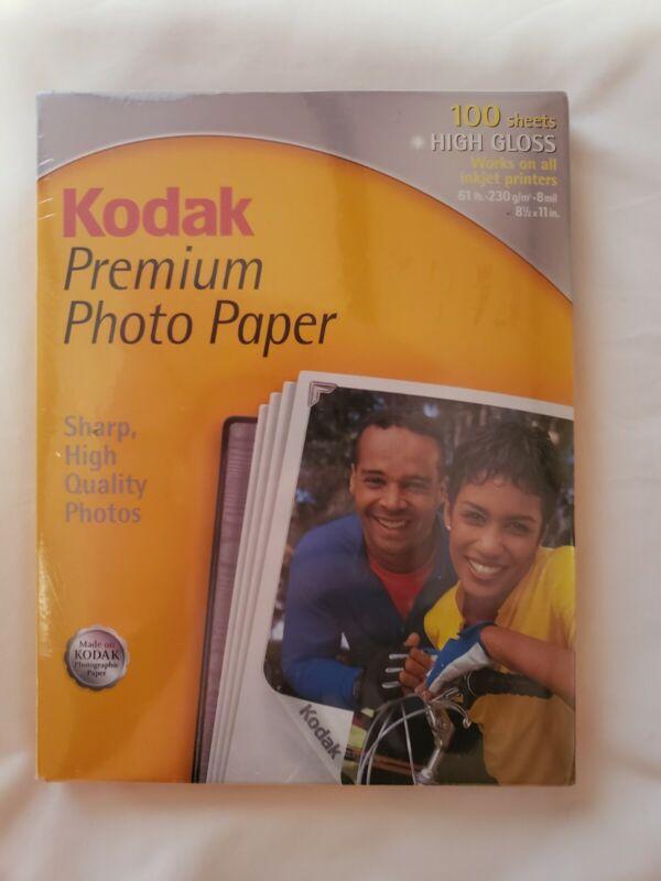 KODAK Premium Inkjet High Gloss Photo Paper | 100 Sheets 8.5