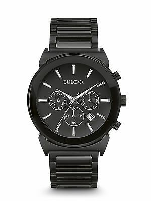 Bulova Men's 98B215 Classic Quartz Chronograph Black Bracelet Watch
