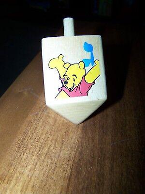 """New Winnie The Pooh Wooden Dreidel 3"""" x 1.5"""""""