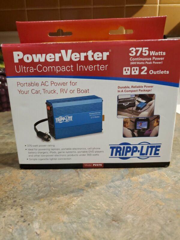 Tripp Lite 375W Power Verter Ultra-Compact Inverter (PV375) Brand New