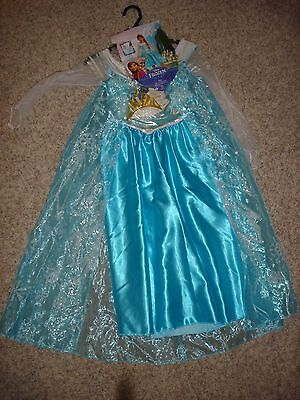 NEW Disney Frozen Elsa of Arendelle dress costume Tiara & Gloves M 7-8 Disguise