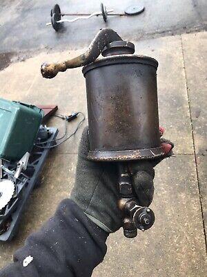 Lunkenheimer Alpha Oiler Lubricator No. 8 Barn Find Hit Miss Steam Nickel