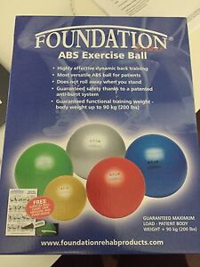 Brand New ABS Exercise Ball and Foam Roller