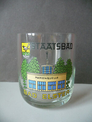 Andenkenglas Trinkglas Souvenir Bad Elster Marienquelle DDR