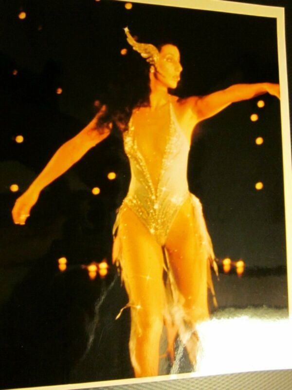 Cher on roller skates 1979 color 8 x 10 photo   Very Nice!
