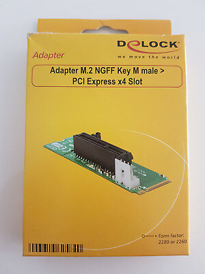 DeLOCK Adapter M.2 NGFF Key M male - PCI Express x4 Slot, Controller
