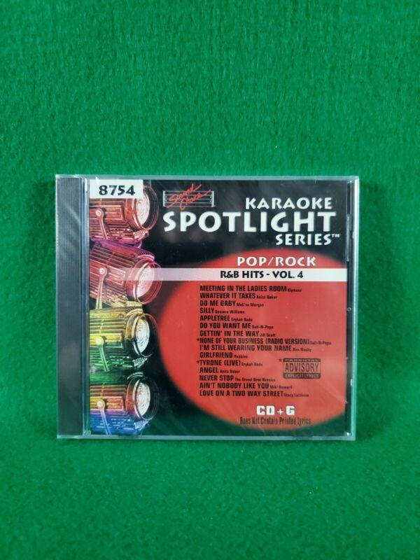 Karaoke Spotlight Series CD+G Sound Choice Disc 8754 R&B Hits Vol. 4