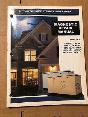 Generac 0g4338 Rev. B Standby Generators Diagnostic Repair Manual