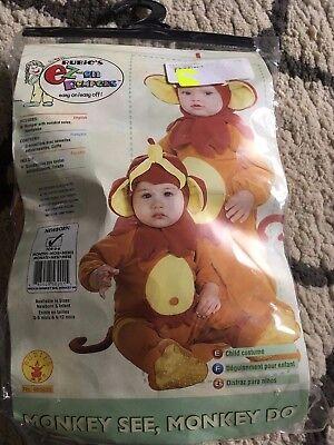 B31 Baby Monkey See Monkey Do Ez-On Romper Halloween Costume new newborn 0-9 - Monkey See Monkey Do Costume