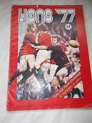 Lions '77 - 96 paged Brochure - Full N.Z.Tour Coverage -Highlights In Colour