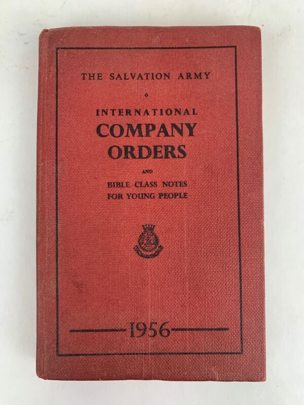 1956 Salvation army international company orders and bible class notes book