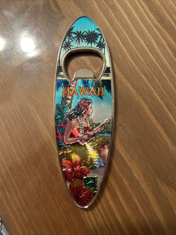Hawaiian Luau Bottle Opener Metal Vintage Hula Girl Hawaii Tiki Bar Party Decor