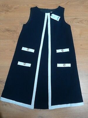 BNWT NEXT GIRLS Age 11 SMART NAVY BLUE DRESS  - Next Communion Dresses