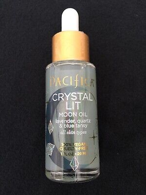 Pacifica Crystal Lit Moon Oil with Lavender, Quartz, and Blue Tansy, 100% vegan