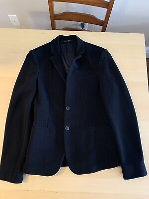 ZARA MAN Blazer Jacket Black Long Sleeve Size USA 36