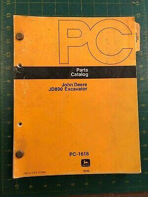 John Deere Parts Catalog Jd890 Excavator Pc-1616