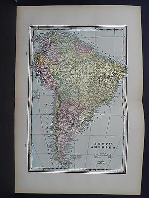 Antique Map 1897, M5#13 South America