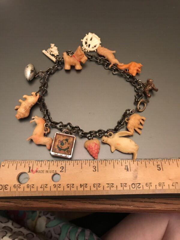 Vintage  Cracker Jack Charms Bracelet