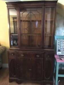 China cabinet, Hutch, antique cherrywood