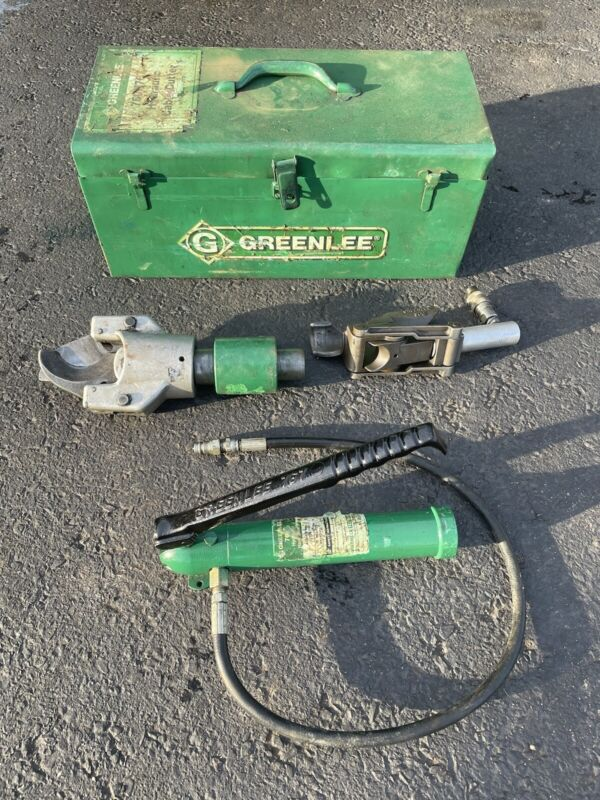 Greenlee 800 Cable Bender W 751 Hydraulic Cutter And 767 Pump Works Great