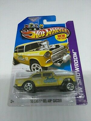 2013 HOT WHEELS GOLD ''55 CHEVY BEL AIR GASSER HW SHOWROOM 1/64 SCALE DIE CAST