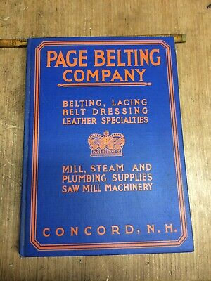 Vintage 1938 Page Belton Company Mill Steam And Plumbing Supply Catalog](Party Supplies Catalog)