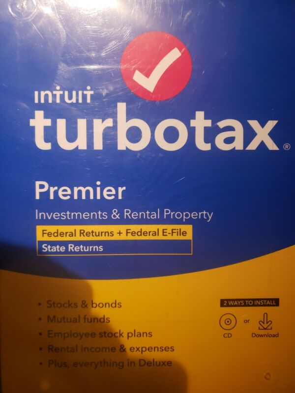 TurboTax 2020 PREMIER Federal and State Returns Physical Disk not A download