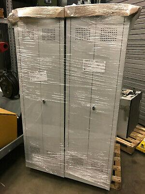 SPIND SPINT Stahl-Kleiderschränke Gaderobenschrank 2türig NEU grau 510100X