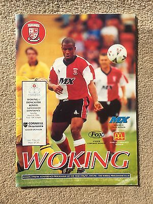 Woking v Doncaster Rovers - Football Conference 1998/99  Programme