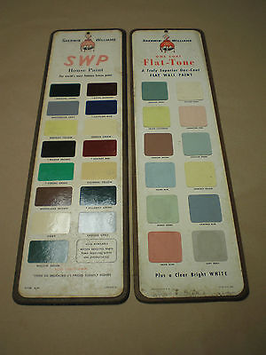 Vintage Paint Advertising Color Chip Sign  Sherwin Williams Swp House Paint