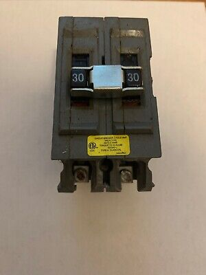 Wadsworth Connecticut Electric 30 Amp Double Pole 2 Pole 30a Circuit Breaker