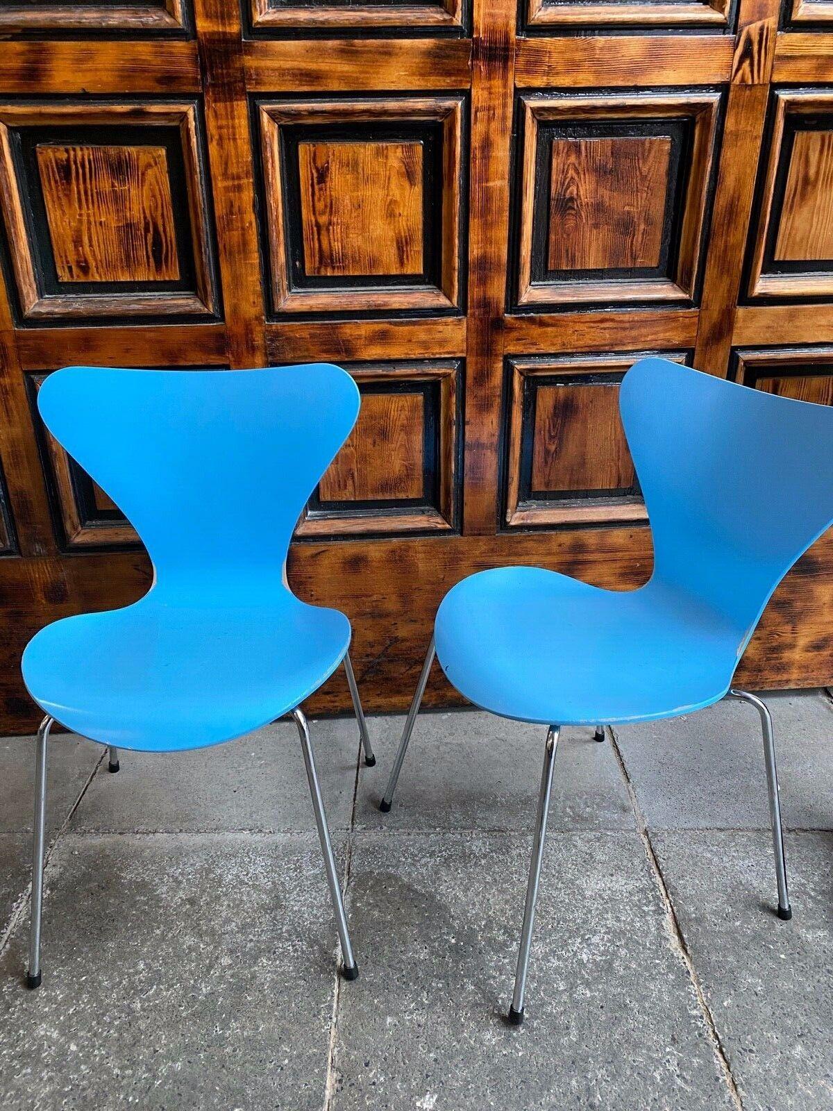1/2 Fritz Hansen Arne Jacobsen Serie 7 Stapelstuhl Designerstuhl Stacking Chair