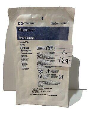 Lot Of 9 Covidien Monoject Control Syringe Luer-lock Tip 12ml 8881512977