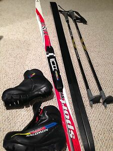 Kid's cross-country waxless ski set Salomon SNS Pilot