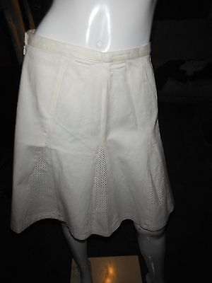 Tory Burch Alexander Skirt A-Line w/Leather Panels Size 6