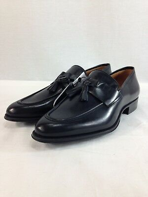 NEW Zara Man Shoes Mens 10 Black Leather Dress Tassels Loafers Slip On Moc Toe