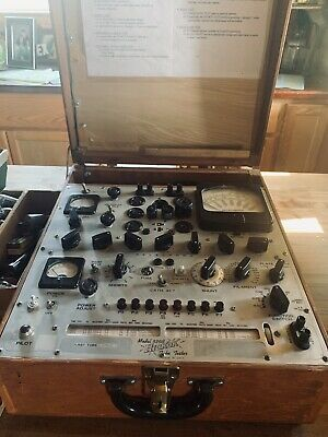 Hickok 539-b Transconductance Tube Tester With Manual