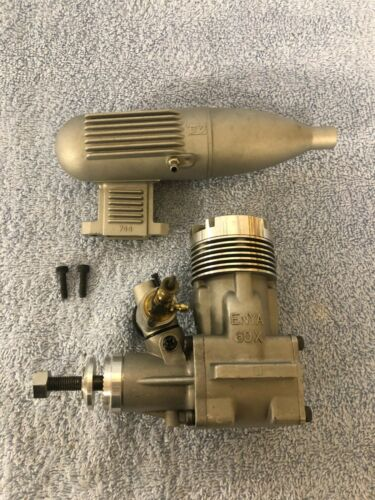 Vintage Enya 60X Radio Control Model Airplane Engine With Muffler