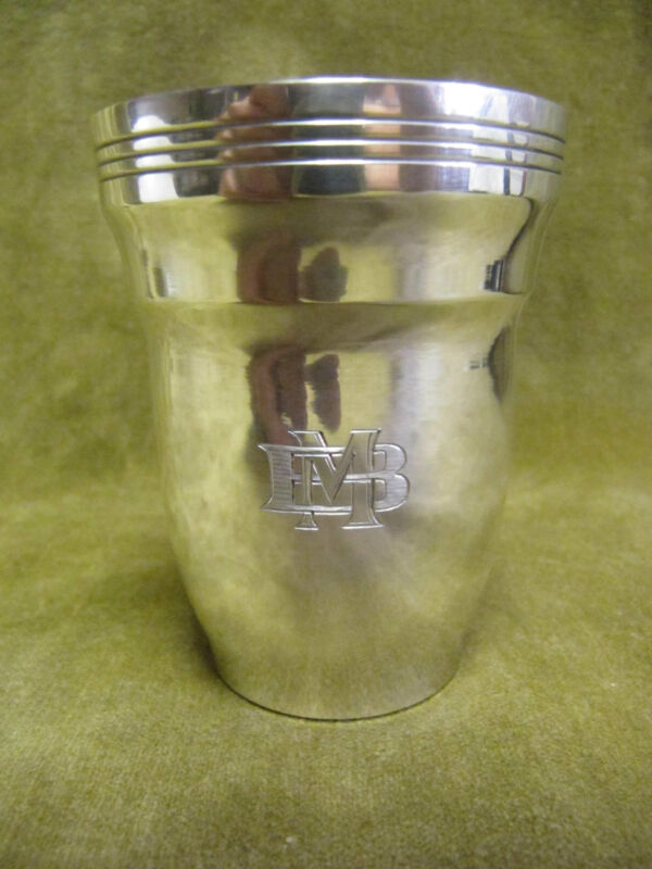 1925  belgium? 800 silver beaker art deco st MB 95gr