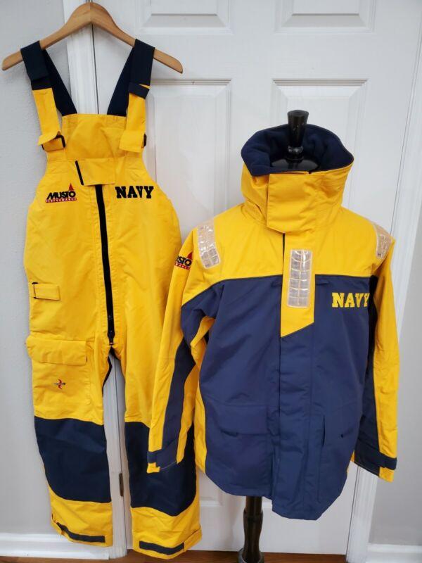 Musto Performance Foul Weather Jacket Pants US Navy USN Medium Sailing Gear NWOT