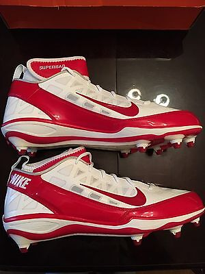 watch c0934 a3b6f New Nike Size 15 Air Zoom Super Bad 3 D Football Cleats Red White Free  Shipping