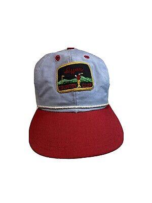 1950s Mens Hats | 50s Vintage Men's Hats Vintage Dyer Country Club Stapback Hat Toronto Ohio Leather Sweatband Cap 1950s? $79.95 AT vintagedancer.com