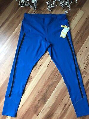 NWT Zella Women's Sz XL Ankle Pant Leggings UPF 50+ Blue Black Stretch Yoga Gym