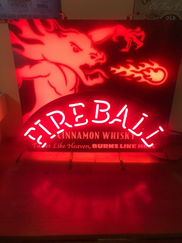 Fireball Whiskey Neon LED