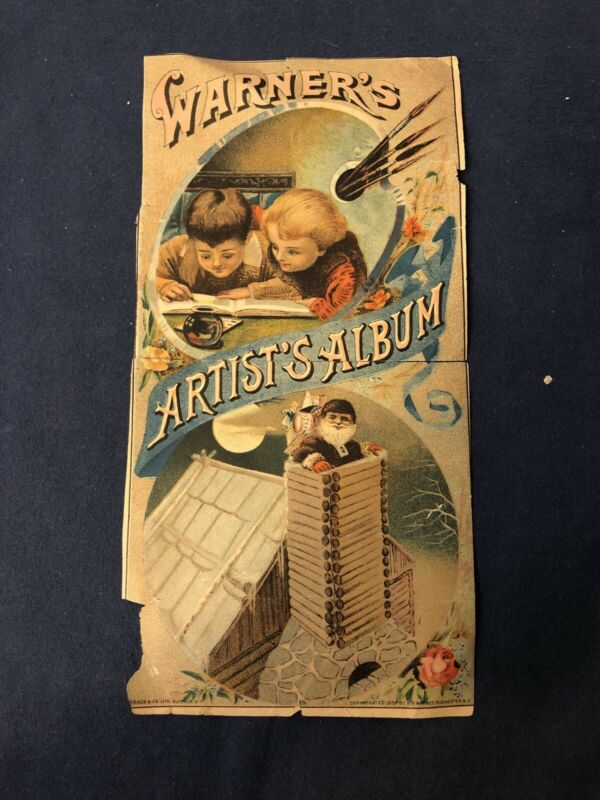 1888 H.H. Warner Artist's Album- Rare Medical Ad Print