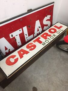 Castrol metal sign 306-717-9678