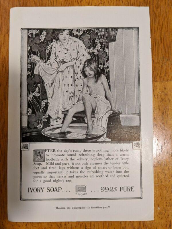 Ivory Soap Original Vintage Print Ad 1918